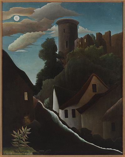 Henri Rousseau / Castle in Moonlight (Le Donjon) / 1889 / Oil on canvas