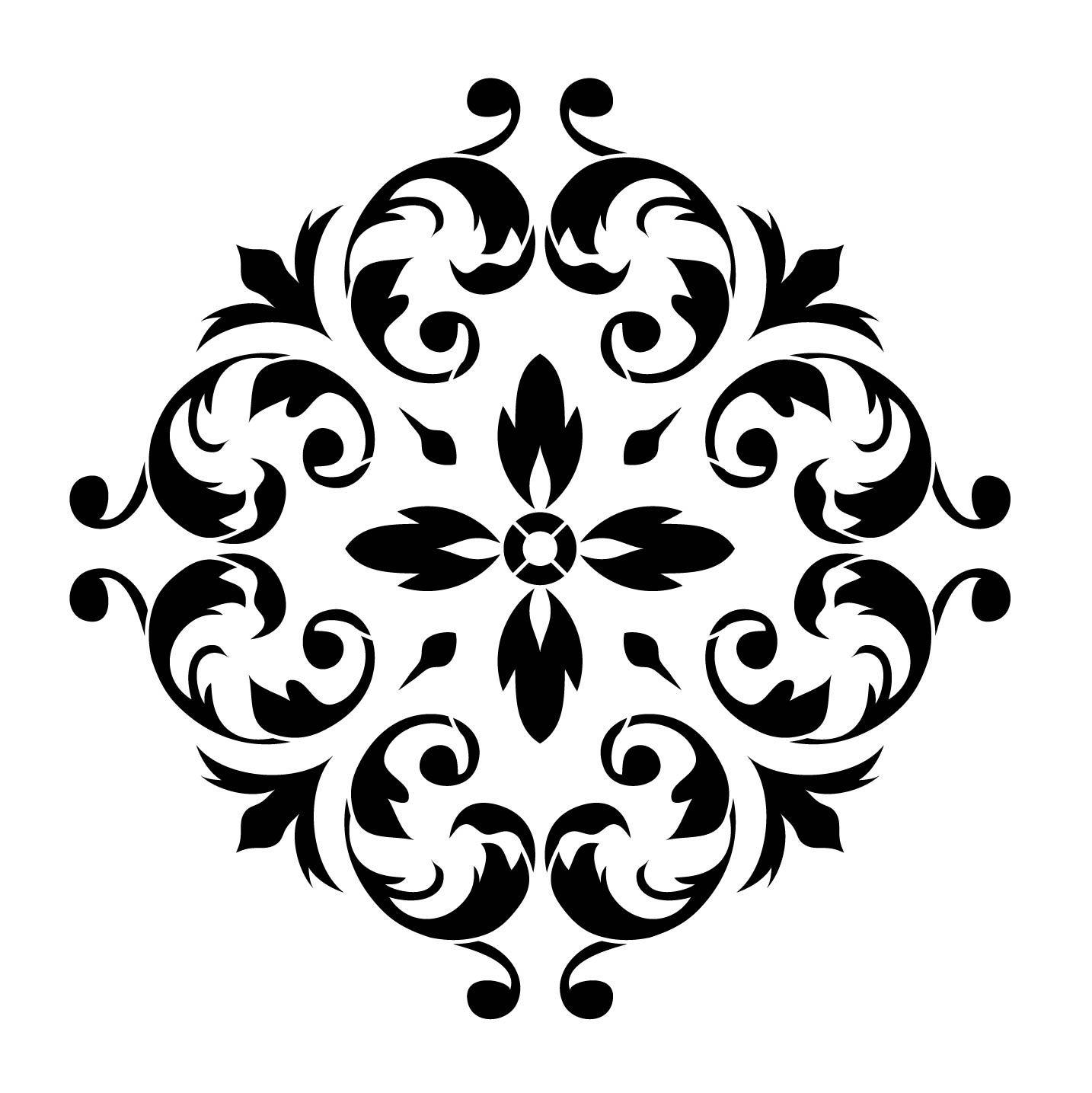 Renaissance Ornament 11 X11 Artisan Enhancements Stencil