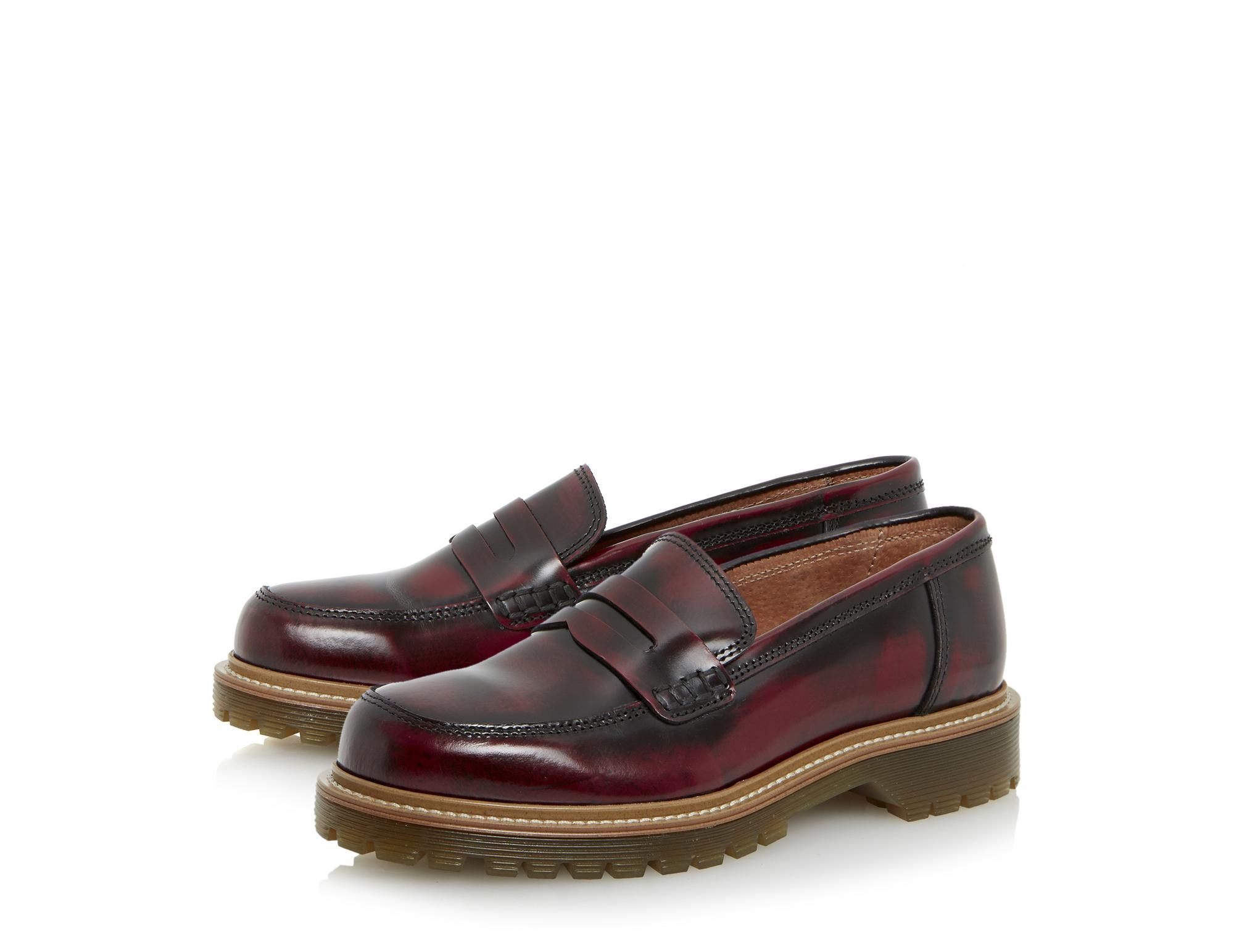 fantastic savings autumn shoes promo codes BERTIE LADIES LACING - Cleated Sole Leather Penny Loafer ...