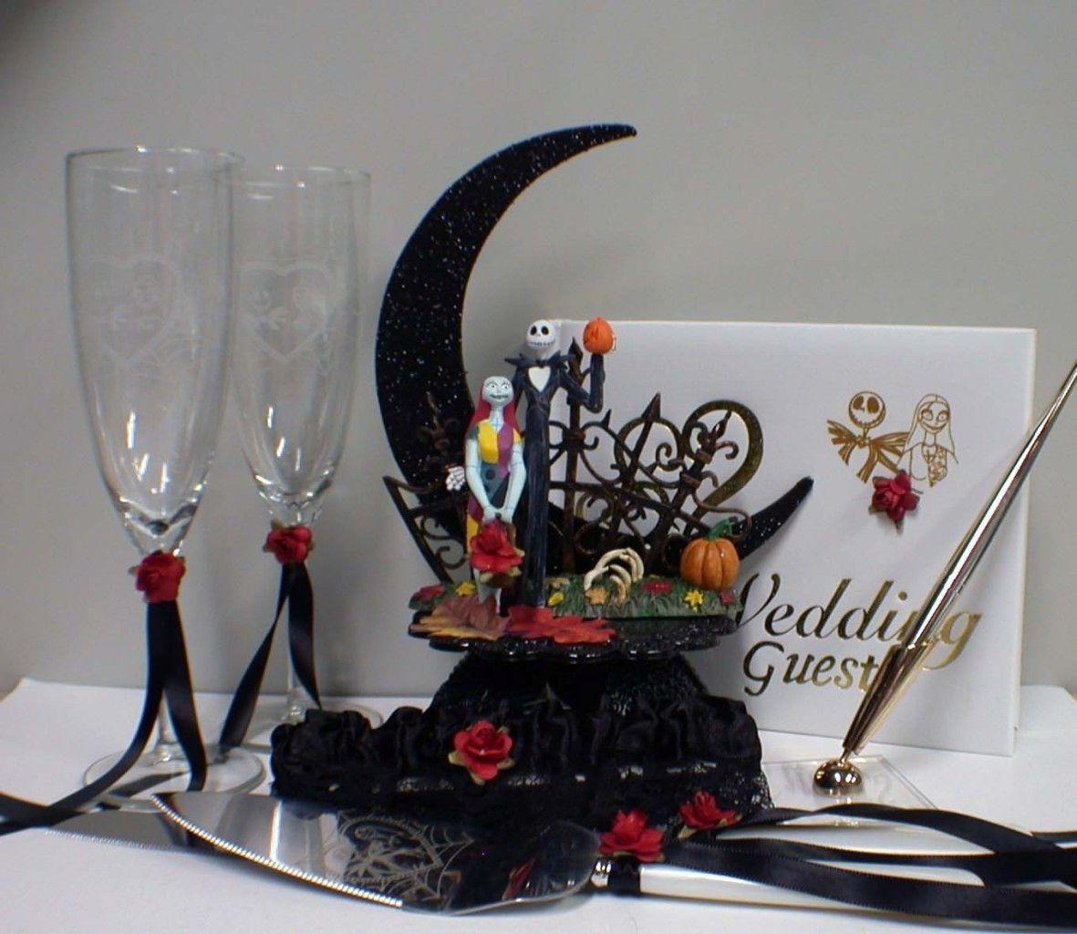 Nightmare before Christmas Wedding Cake topper LOT Jack Sally ...