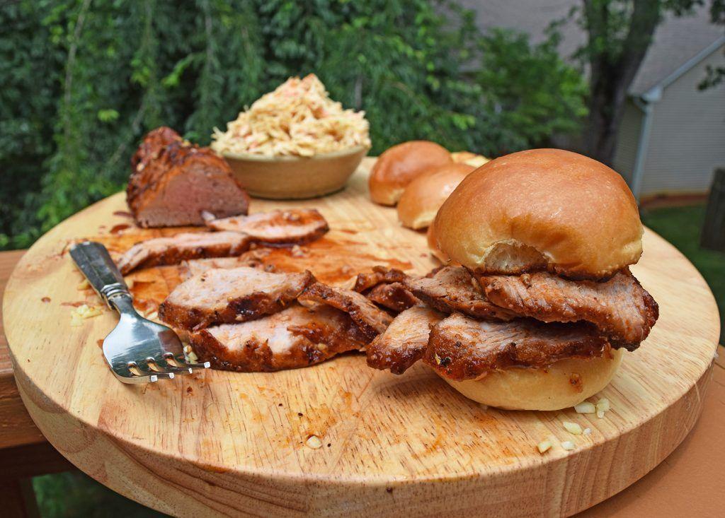 Cajun pork tenderloin sliders with spicy slaw recipe