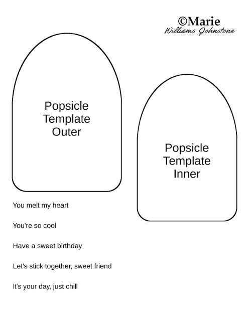 Popsicle Card Tutorial and Free Template Felt Food Popsicle