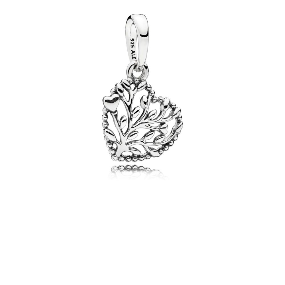 Flourishing Hearts Pendant Charm Dangle Charms Pandora Charms Silver