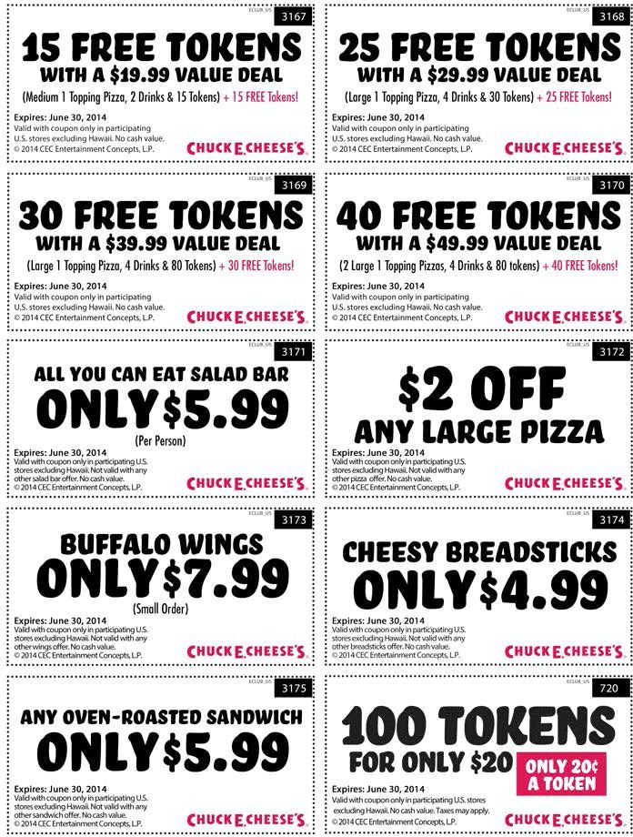 Pin On Chuck E Cheese Coupons