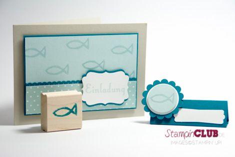 stampin up konfirmation kommunion einladung karte platzkarte, Einladungskarten
