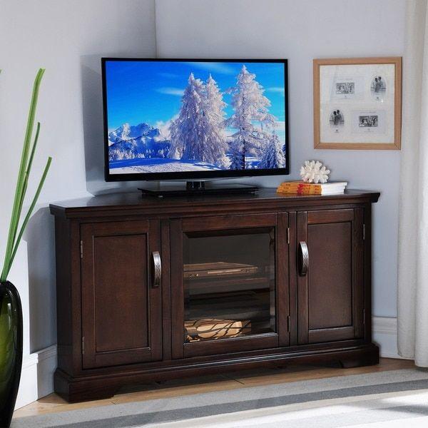 Merveilleux Chocolate Bronze 46 Inch Corner TV Stand U0026 Media Console