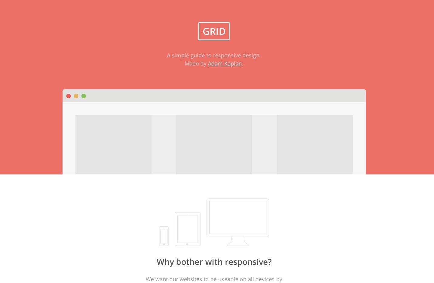 GRID - a simple guide responsive design   Web Resources   Grid