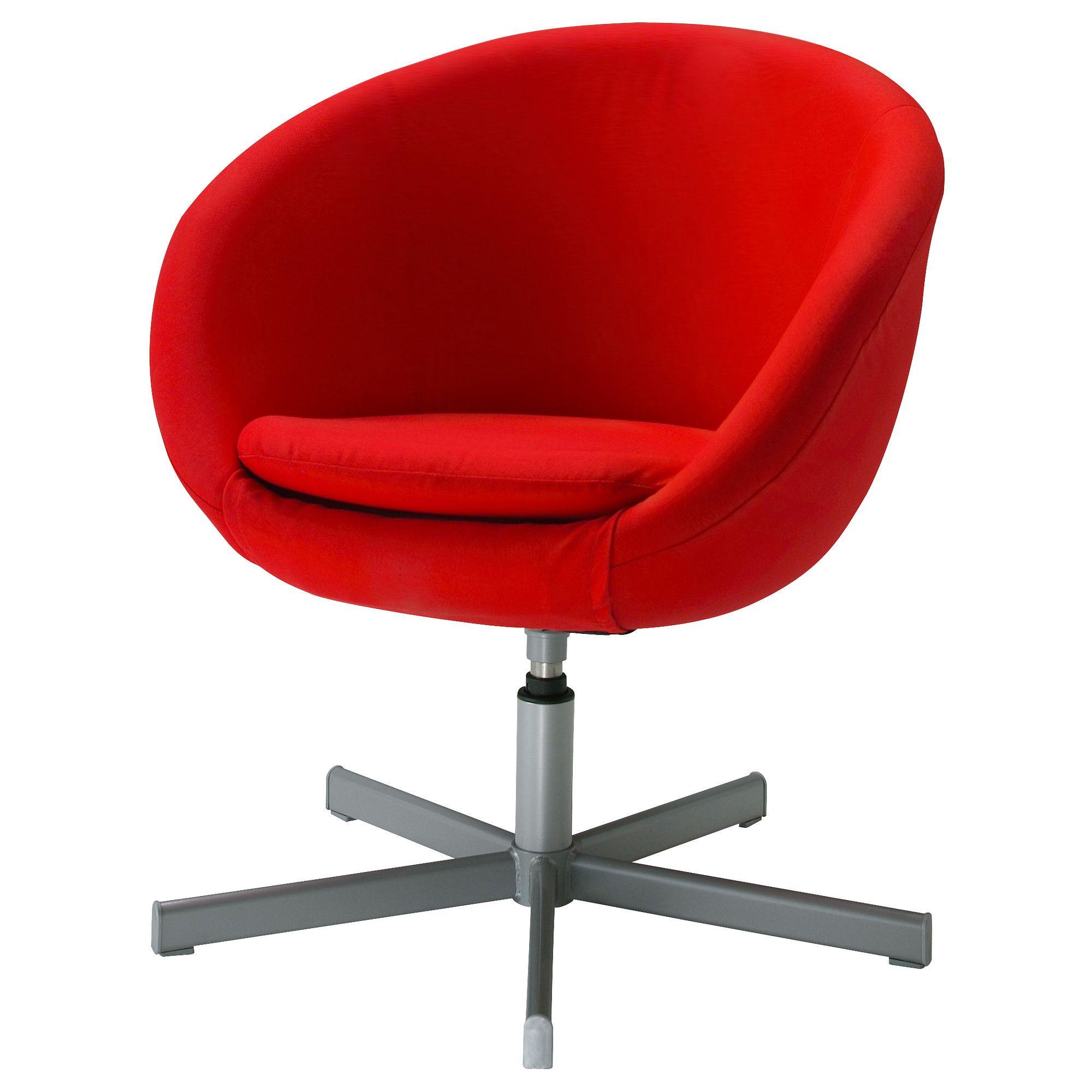 Skruvsta Fotel Obrotowy Almås Czerwony Ikea Red