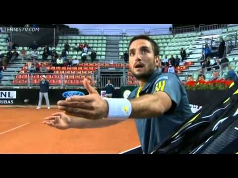 Viktor Troicki Goes Crazy In Rome When Playing Ernests Gulbis From The Space Viktor Troicki Tennis Going Crazy