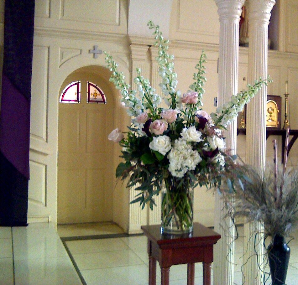 Fall Wedding Altar Arrangements: Altar Arrangements Photo_031111_002
