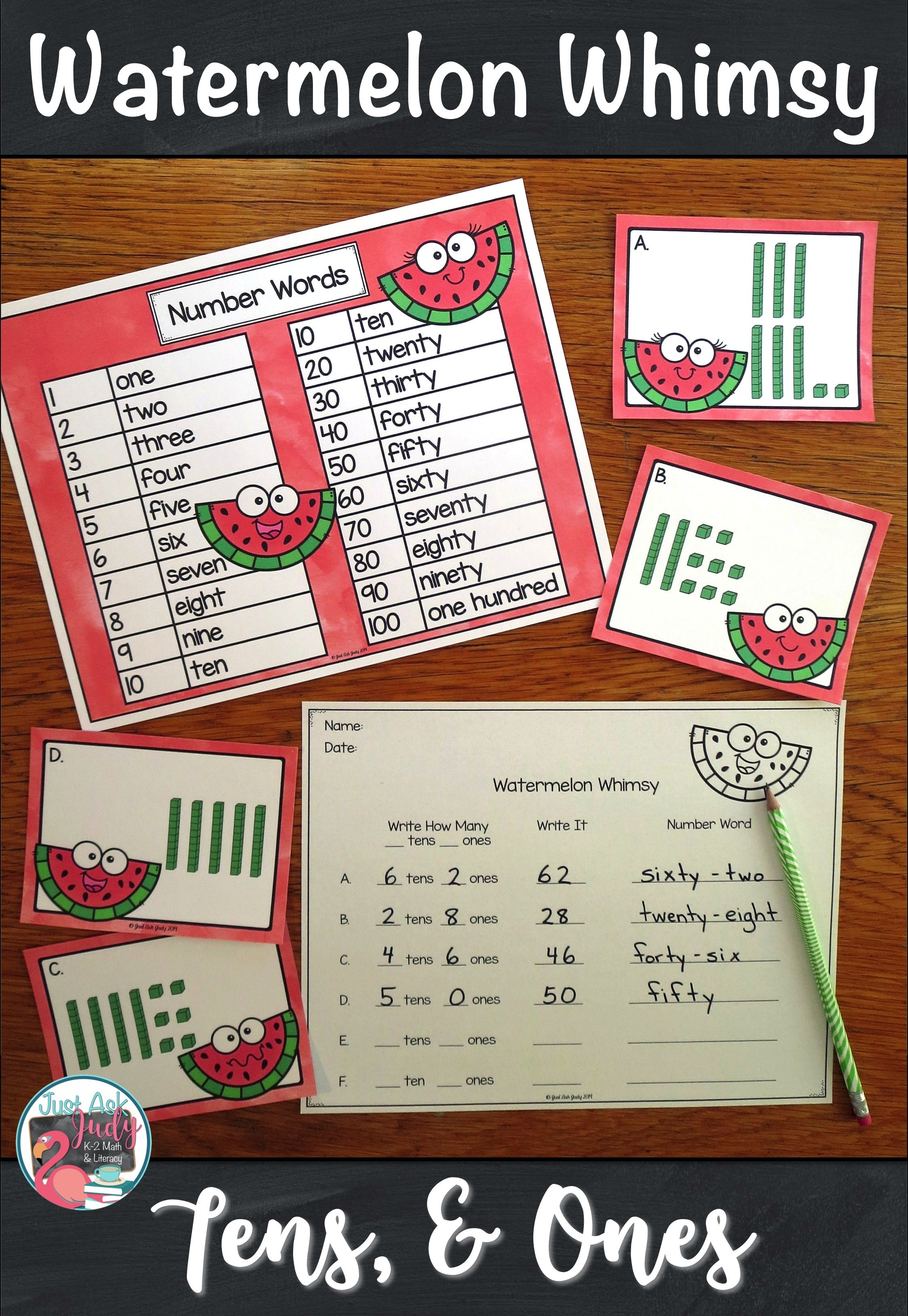Place Value Activity Tens And Ones Watermelon Whimsy Place Value Activities Watermelon Activities Math [ 3261 x 2249 Pixel ]