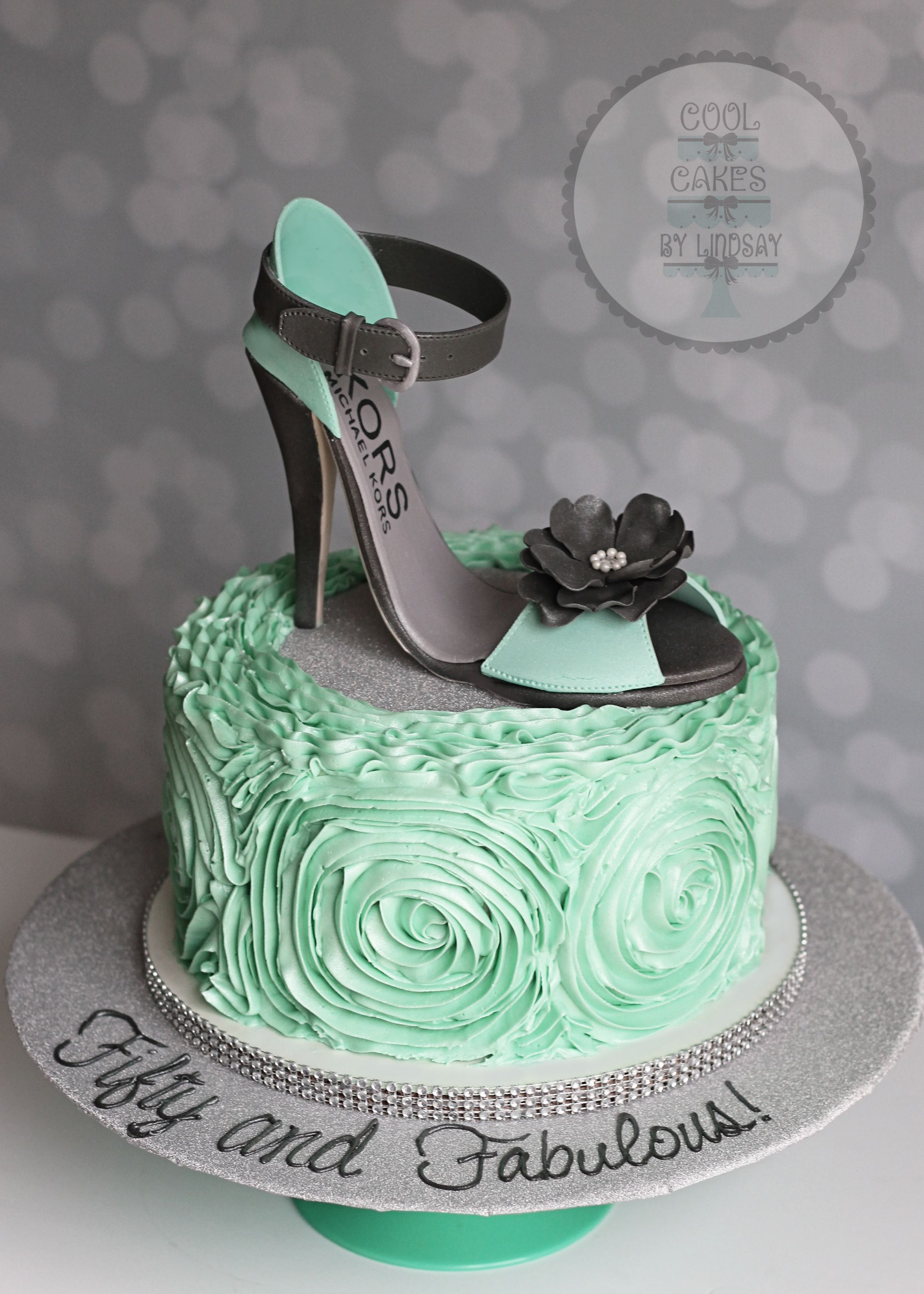 Michael Kors Mk Stiletto Shoe Cake Edible Fondant High