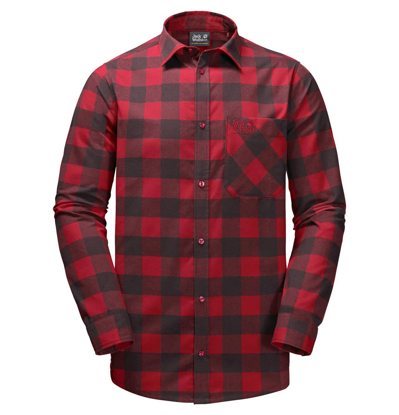 Camping & Hiking Jack Wolfskin Mens Red River Shirt Hemd Für