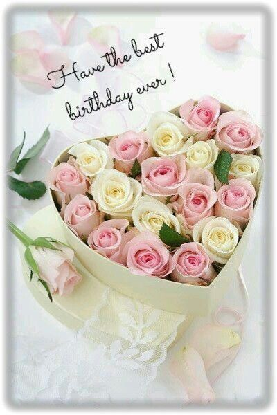 Happy Birthday Geburtstag Blumen Gluckwunsch Blumen Blumen In Box