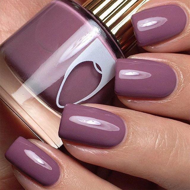 Muted purple dark mauve nails