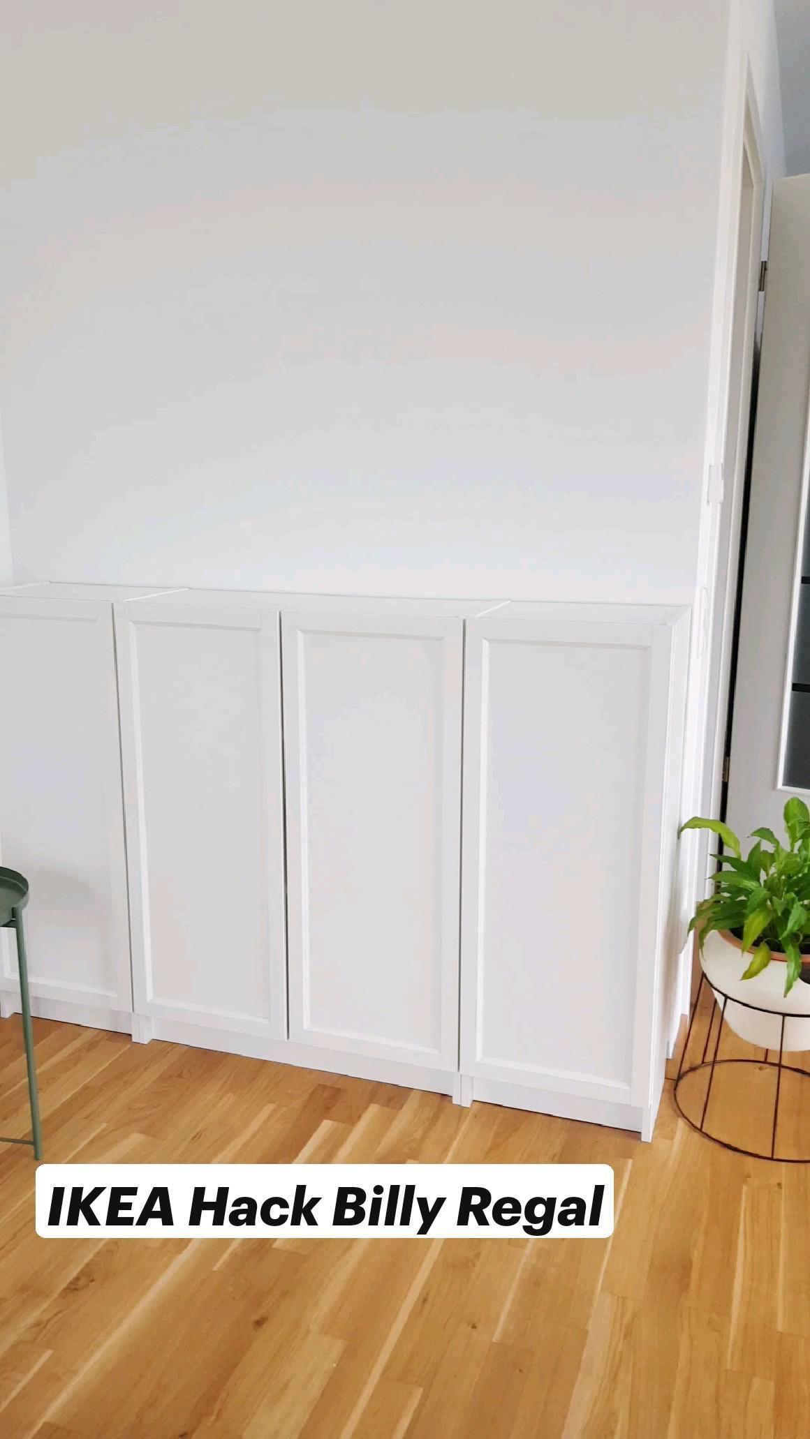 DIY IKEA Hack Billy Regal. So einfach und günstig kannst du dein Highboard von Ikea aufwerten!
