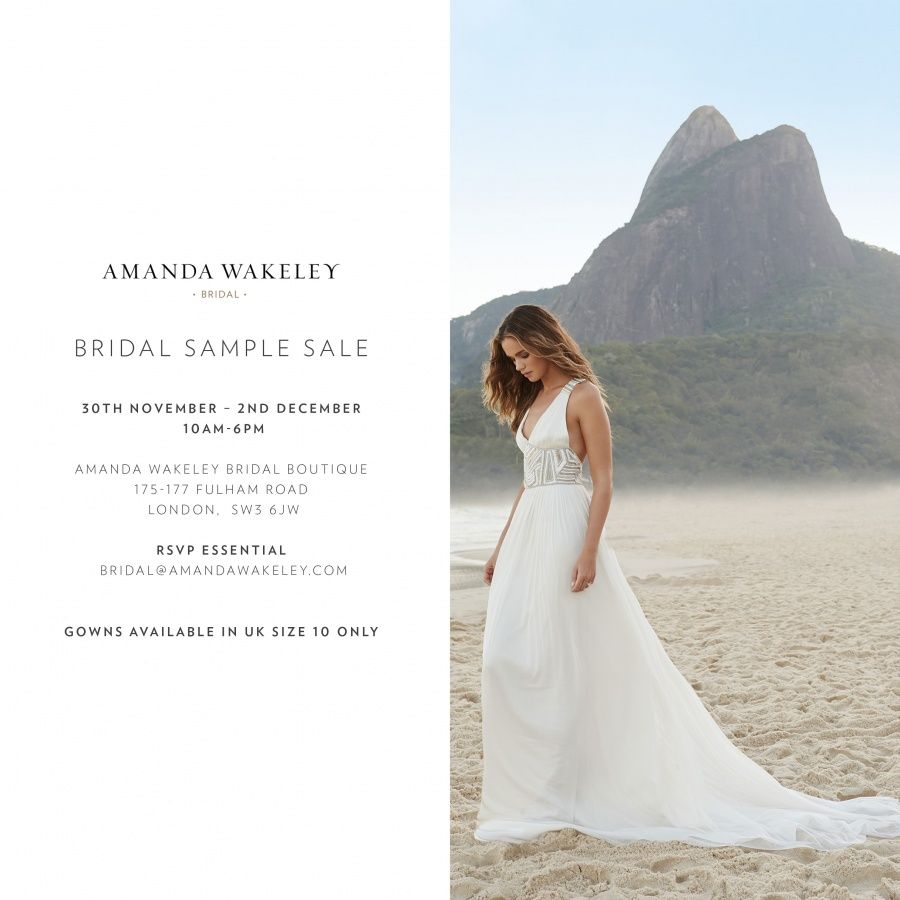 Amanda Wakeley Bridal Sample Sale -- London -- 30/11-02/12 | Sample ...