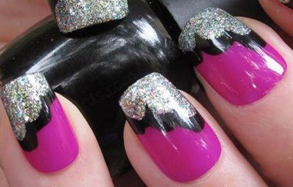 Unas Decoradas Colores Oscuros Unas Nail Art Nails Y Nail Art