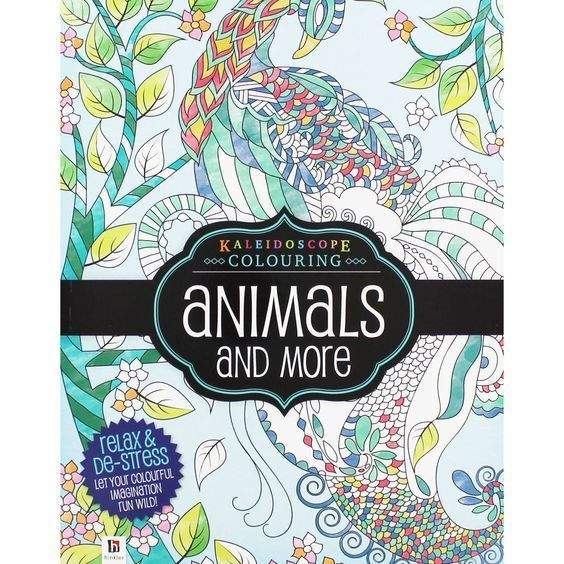 Animals More Adult Colouring Book Large Mindfulness Anti Stress Craft PB
