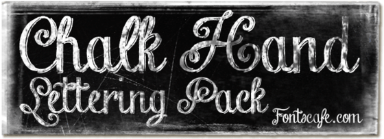 "Download ""Chalk Hand Lettering Pack"" fonts | Letras, Artes, Placas"