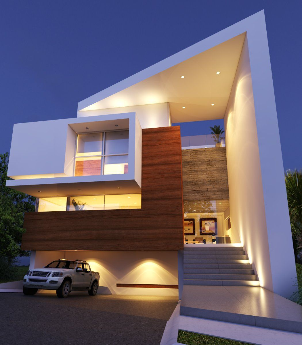 Residencias fachadas guadalajara creato por creato arquitectos places pinterest - Casas cuadradas modernas ...