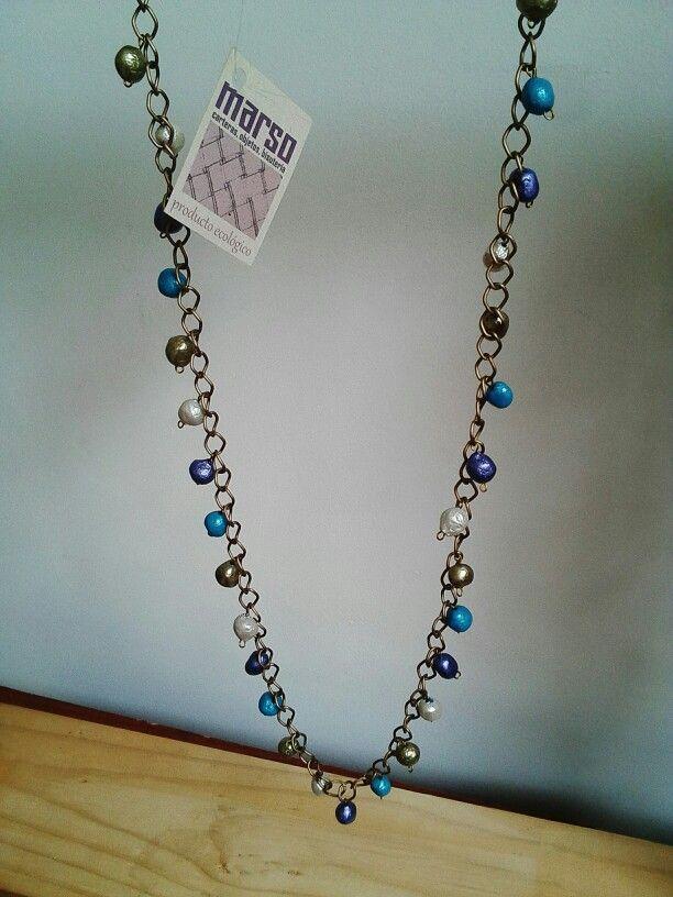 1fe3b4038103 Cuentas de papel | joyas con papel reciclado