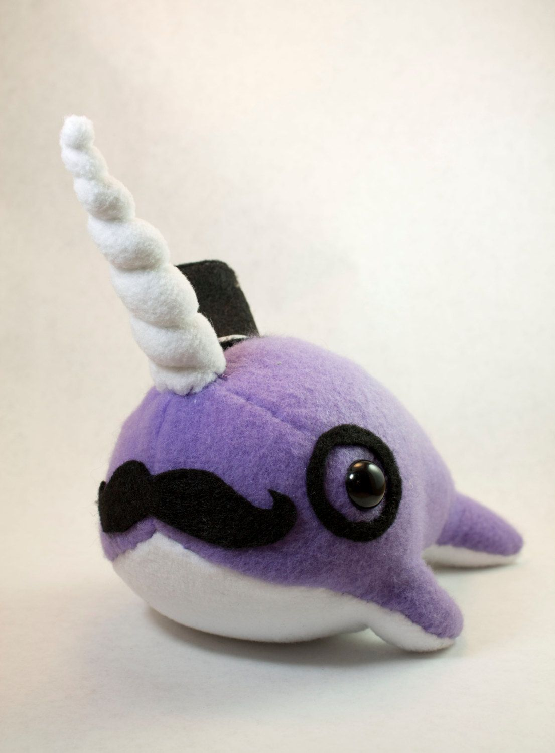 Narwhal Plush with Mustache, Tophat, and Monocle (Choose