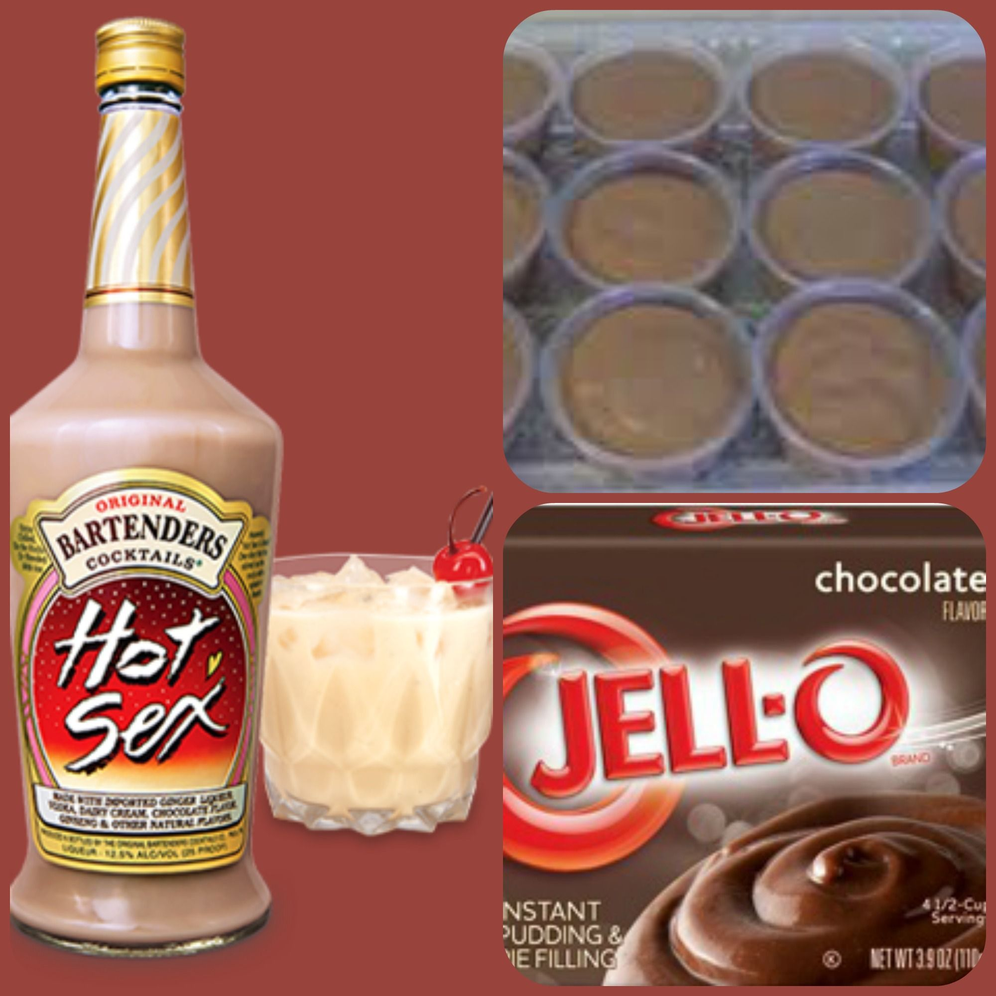 Hot Sex Pudding Shots 1 small Pkg.chocolate instant pudding 3/4 ...