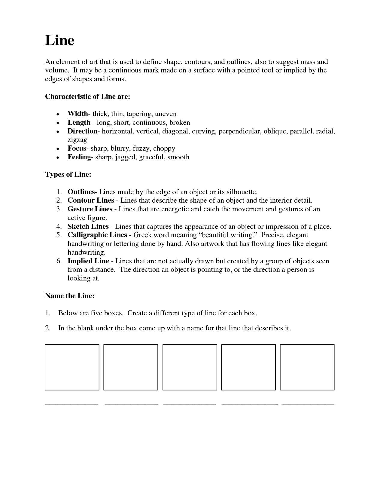 Printables Elements Of Art Worksheets 1000 images about visual art handouts on pinterest elements of worksheets and geometric art