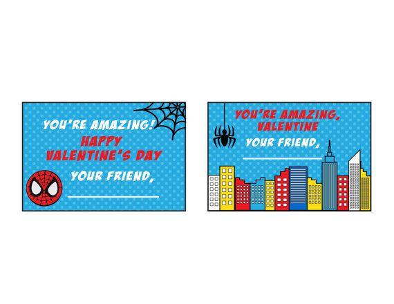 Spiderman Valentine S Day Cards Spiderman Valentines Spiderman