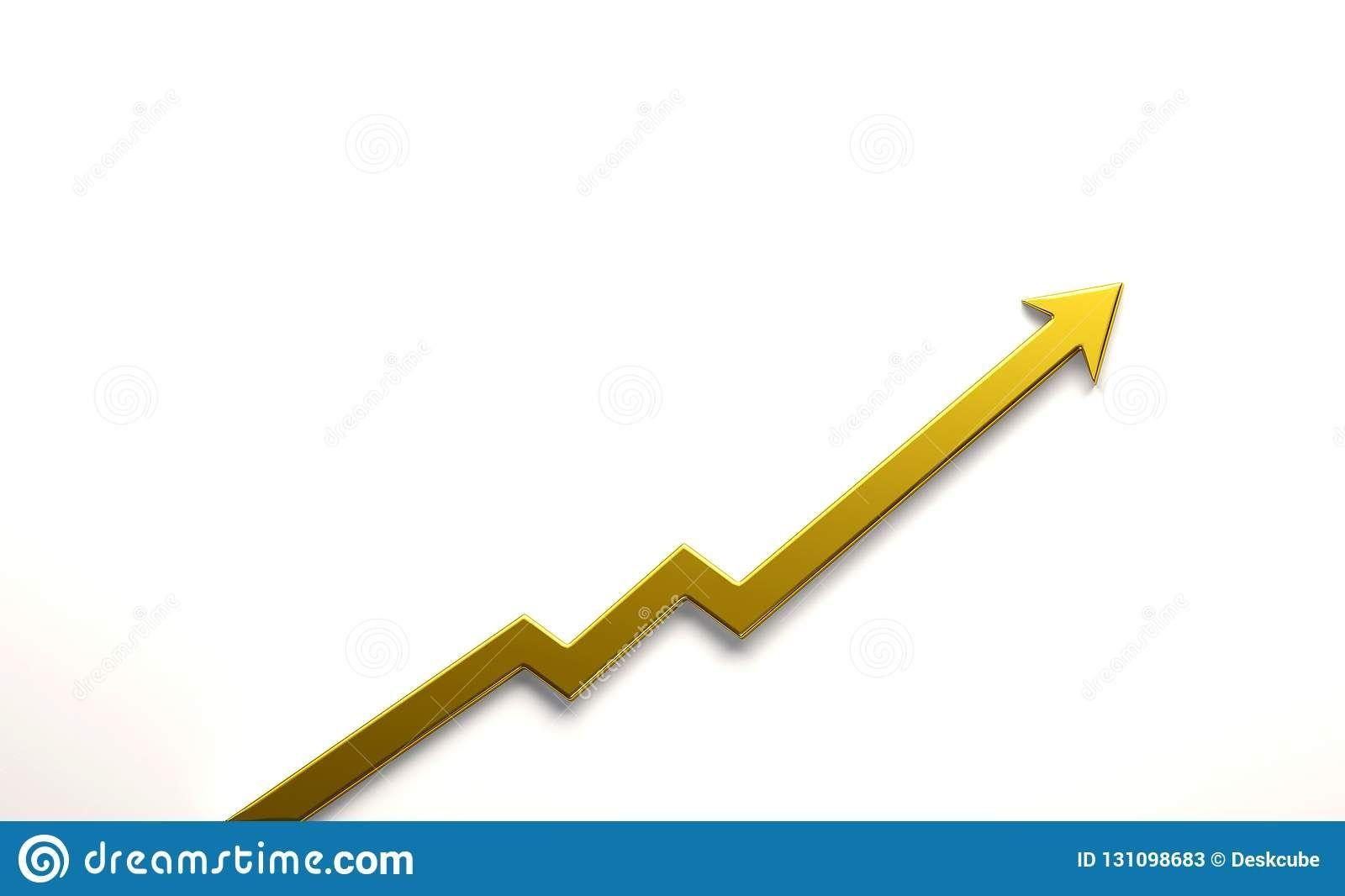 Gold Graph Arrow Of Improvement 3d Render Illustration Finance Financial Arrow Goldarrow Logodesign Logo Logoarrow Gold Graph Illustration Graphing