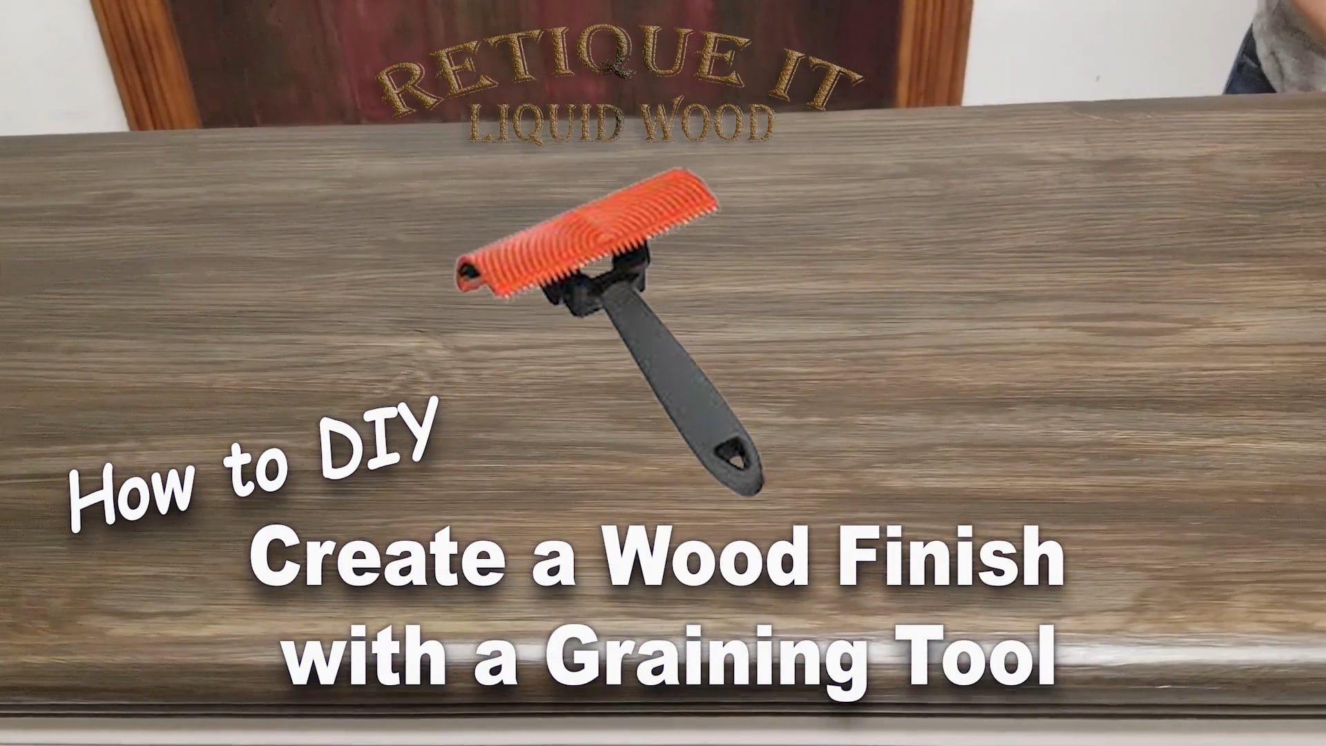 How To Apply False Graining To Metal Uses A Graining Tool And Gel Stain Painting Metal Doors Metal Door Metal Front Door