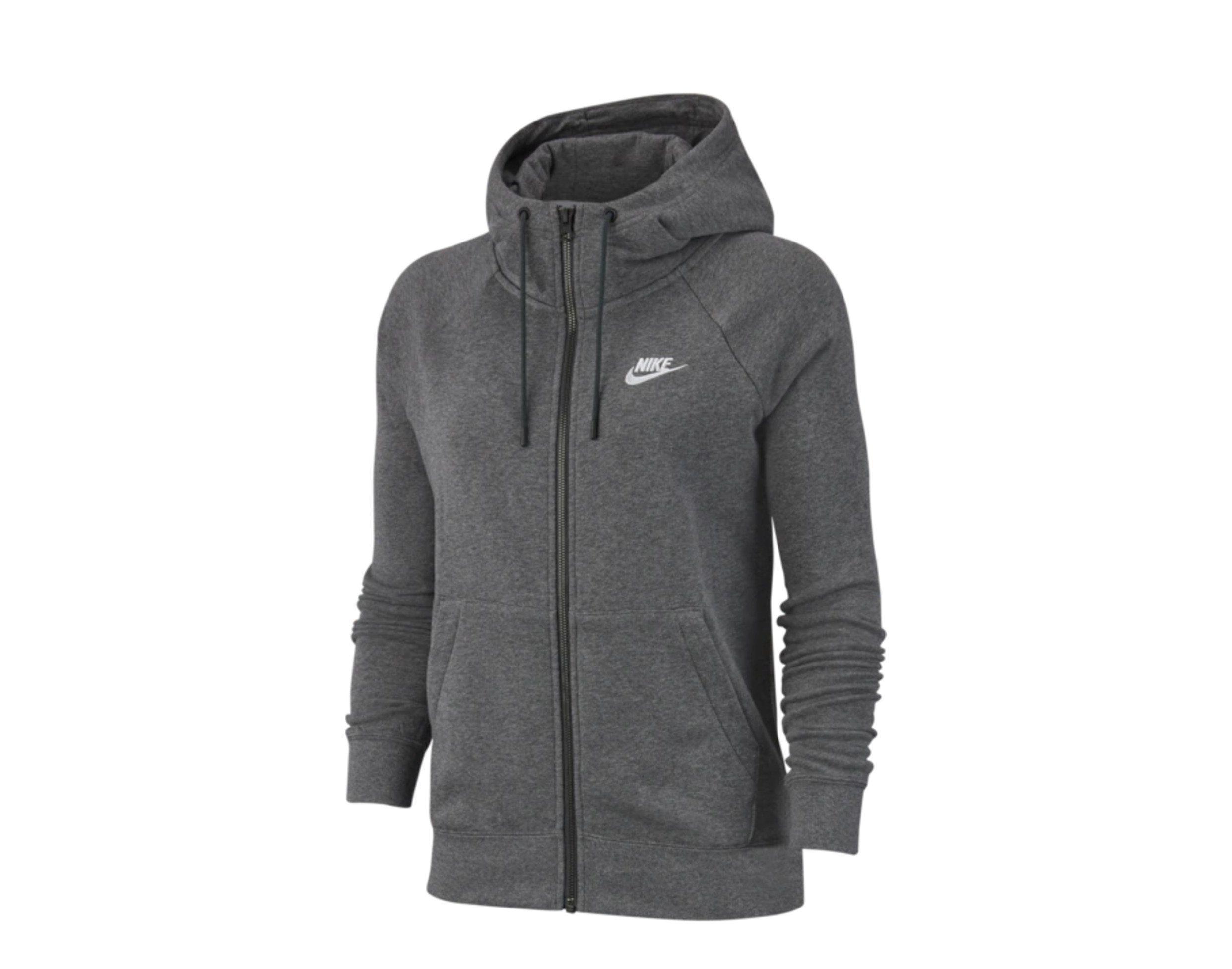 Details about Nike Sportswear Essential Full-Zip Fleece Grey ...