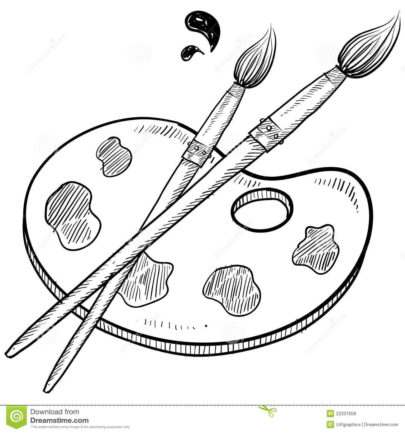 Paintbrush Clipart Black And White Google Search In 2019
