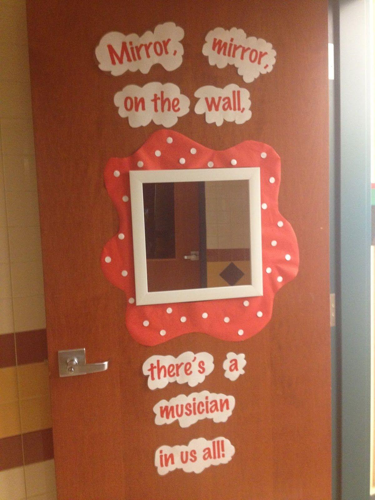 Cute door for a music classroom.