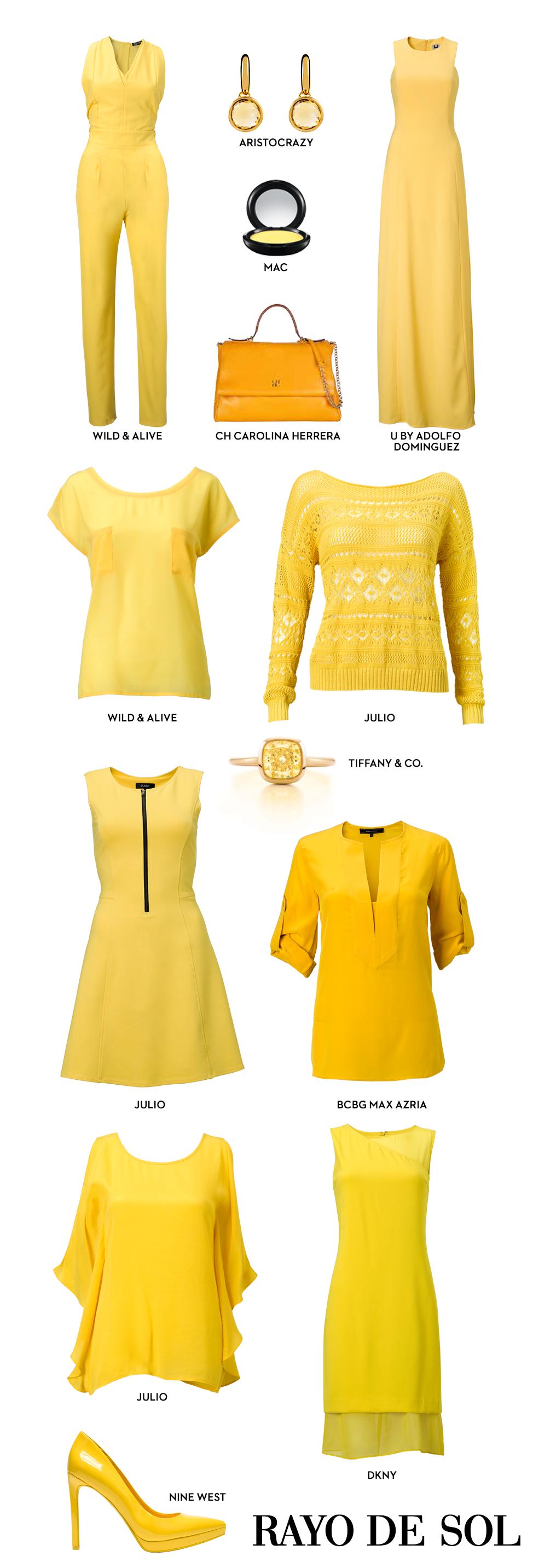 El amarillo ilumina esta temporada marcando una fuerte tendencia en el guardarropa femenino. - El Palacio de Hierro - El Libro Amarillo Primavera/Verano 2014