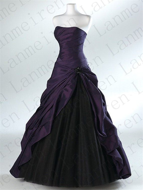 Purple Wedding Dress A Line Wedding Gowns Bridal Gown Bridal