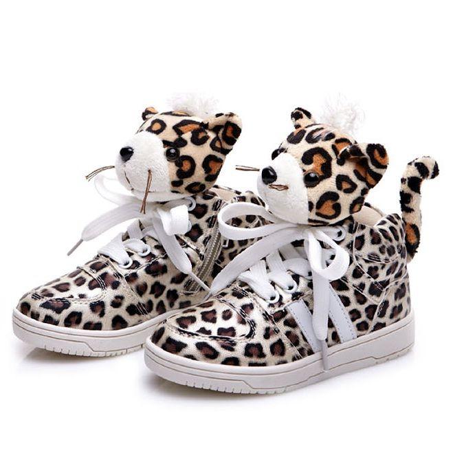 Leopard Print Cute Kids Winter Warm Athletic Shoes SL068.jpg 659 ...