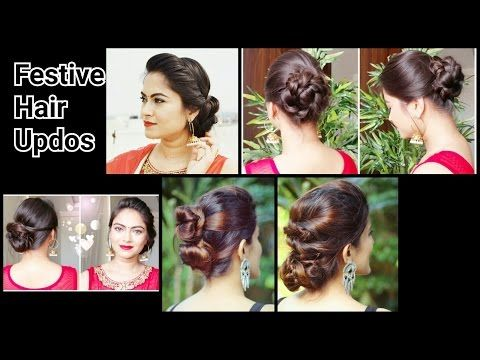Hairstyles For Long Hair On Saree : 2 quick&easy indian bun hairstyles for saree anarkali lehnga
