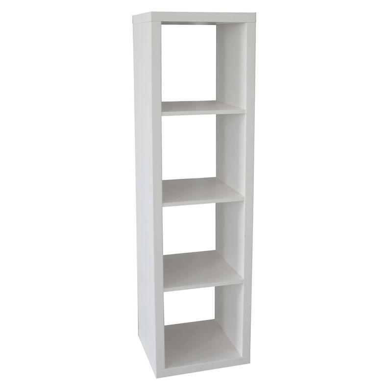 Flexi Storage Clever Cube 1 X 4 Storage Unit White Cool Shelves Cube Shelves Shelves
