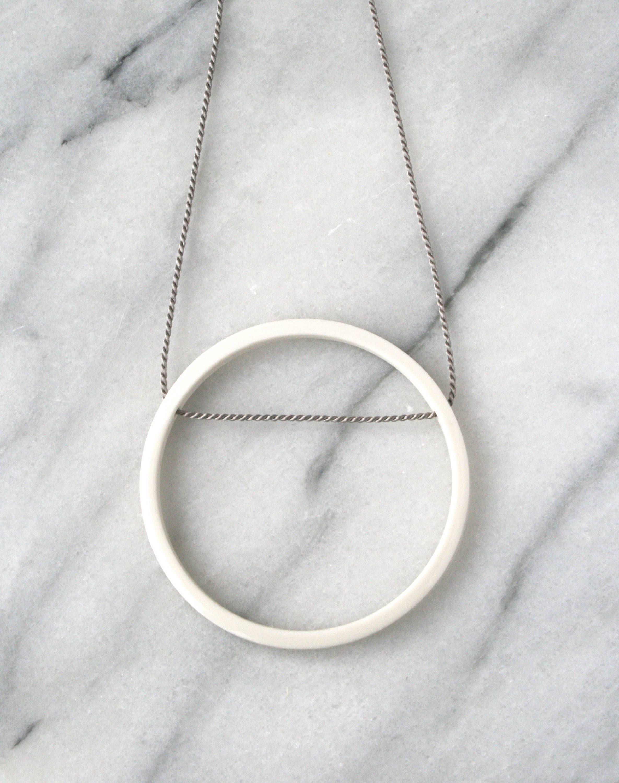 Simple circle pendant necklace / geometric jewellery