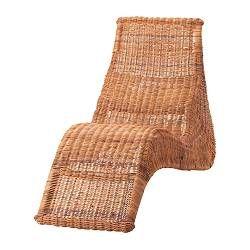 Chaiselongue rattan  KARLSKRONA chaise lounge, rattan Length: 59