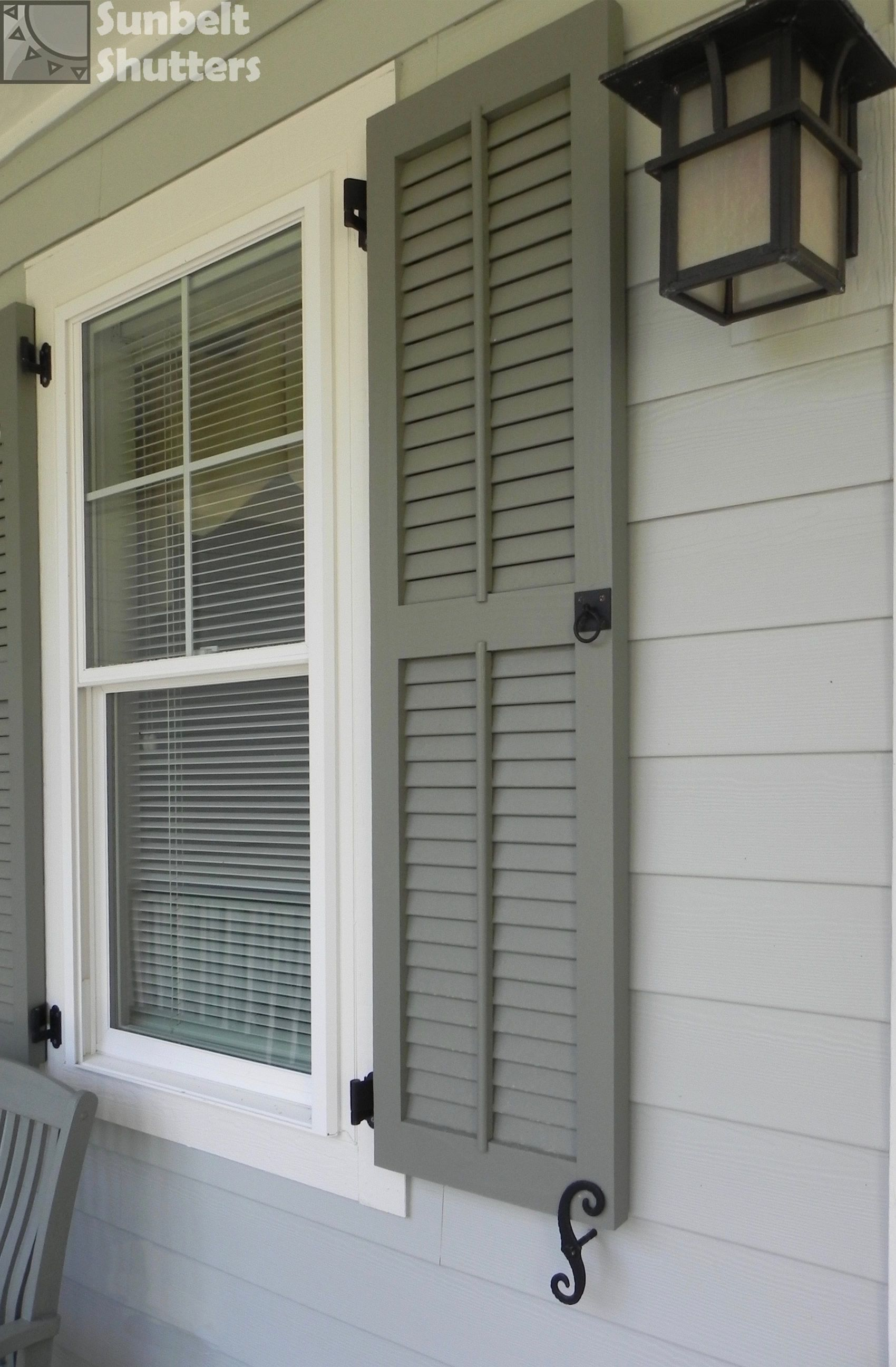 Craftsman Louvereds With Tilt Rod Louvered Shutters Classic Shutters Shutters Exterior