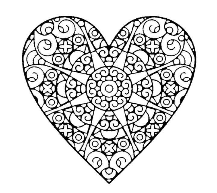 Pin By Michelle Sluder On 0 Coloring Mandalas Etc Heart Coloring Pages Love Coloring Pages Pattern Coloring Pages