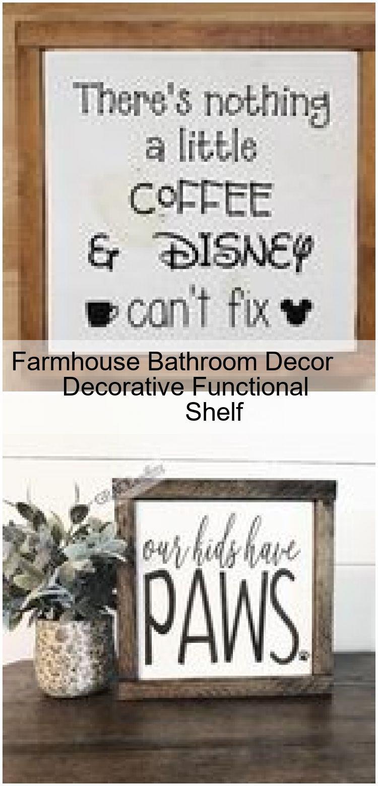 Farmhouse Bathroom Decor Decorative Functional Shelf ,  #Bathroom #decor #Decorative #farmhouse #Functional #shelf
