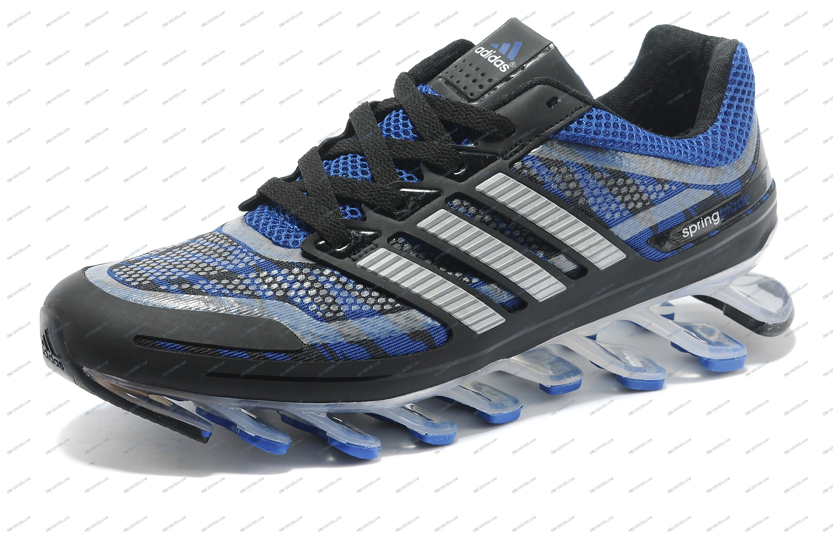 Cheap - Adidas Razor Running Shoes for Men Black-Blue-Silver