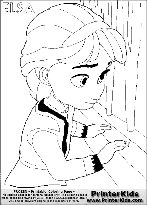 coloringpags frozen to print Frozen Elsa Coloring Pages Printable