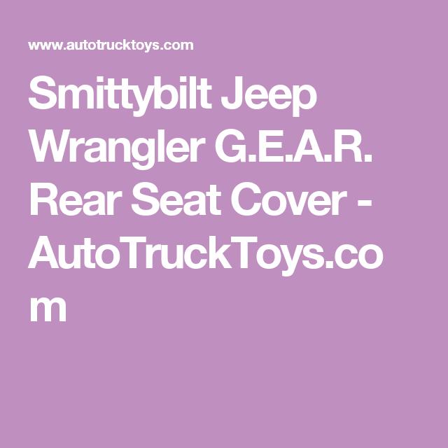 Smittybilt Jeep Wrangler GEAR Rear Seat Cover