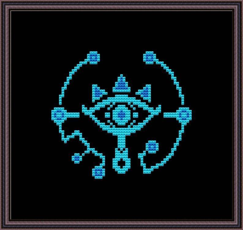 Legend of Zelda  Sheikah Eye  Cross Stitch Pattern PDF Instant Download  Legend of Zelda Sheikah Eye Cross Stitch Pattern PDF  Etsy
