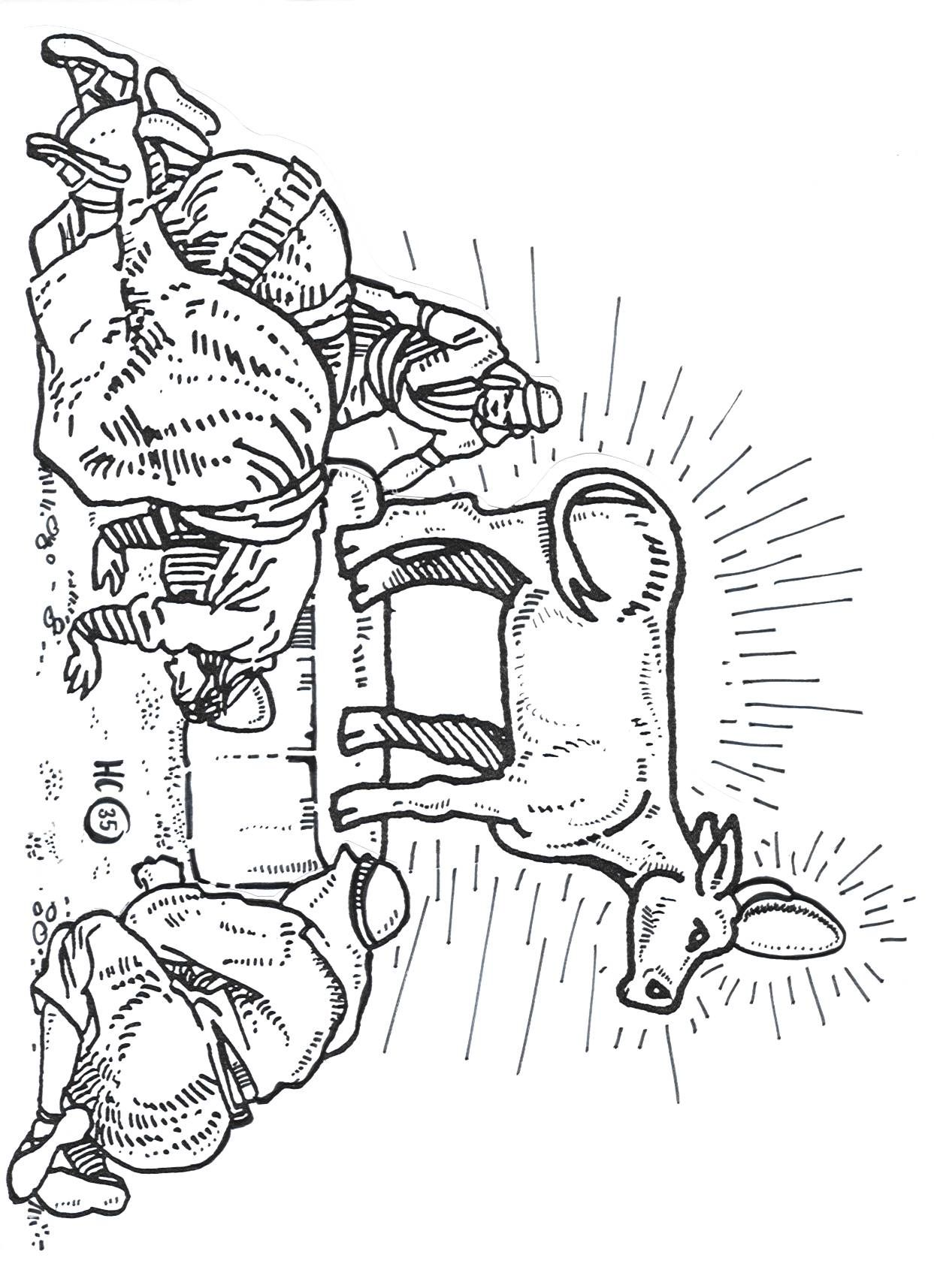 Aaron And The Golden Calf Coloring Page